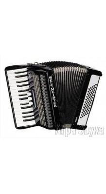 Фото WELTMEISTER RUBIN 30/60/II/3 (Черный аккордеон для обучения, с ремнями и чехлом)