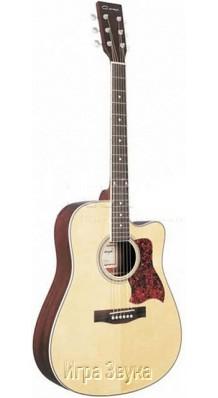 Фото CARAYA F650C-NAT (Акустическая гитара С вырезом и металлическими струнами)