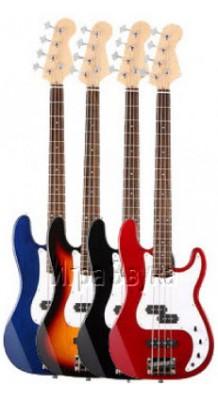 Фото HOMAGE HEB710RED (Бас-гитара 4-струнная, цвет-красный)