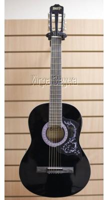 Фото BESTWOOD MCA101-1-BK (Черная гитара с металлическими струнами)