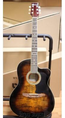 Фото CARAYA C901T-BS (Акустическая гитара 6 струнная, с вырезом, тигровая расцветка)
