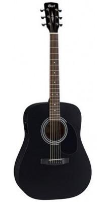 Фото PARKWOOD (CORT) W81E-BKS (Черная электро-акустическая гитара из массива)