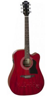 Фото HOHNER CS-DTWRCE CHORUS CE (Электро-акустическая гитара, 6-струнная, цвет - вишневый)