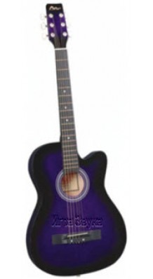 Фото SM C-81C-BL (Акустическая гитара синего цвета, с вырезом)