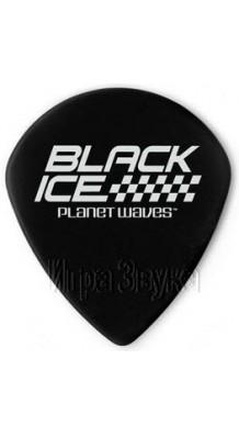 Фото PLANET WAVES BLACK ICE (Медиаторы черные, гладкие, форма Jazz.)