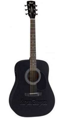 Фото PARKWOOD (CORT) W81-BKS (Матовая акустическая гитара из массива, черная)