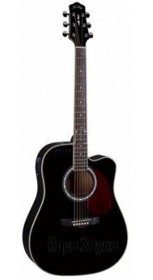 Фото NARANDA DG220C-BLACK (Шестиструнная акустическая гитара с вырезом)