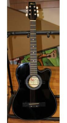Фото SM/BRIGITTA C-81C-BK (Акустическая гитара, черная, с вырезом)