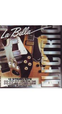 Фото LA BELLA EL-12L (Комплект струн для 12-струнной электрогитары)