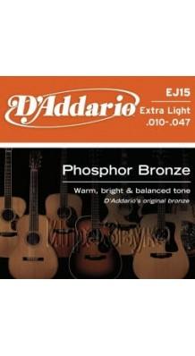 Фото D`ADDARIO EJ15 (Струны для гитары акустической, фосфорная бронза)