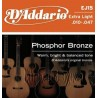 струны для гитары акустической, фосфорная бронза